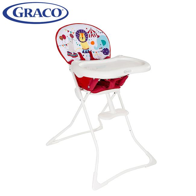 聰明媽咪-Graco 簡便型式高腳餐椅Tea Time馬戲團