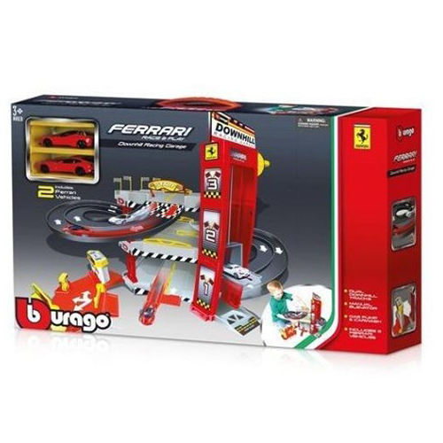 《 Bburago 》1 / 64 法拉利停車場組 ( 附兩車) ╭★ JOYBUS玩具百貨