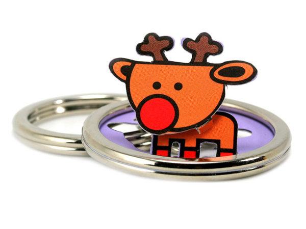 ☆猴子設計☆糜鹿立體鑰匙圈