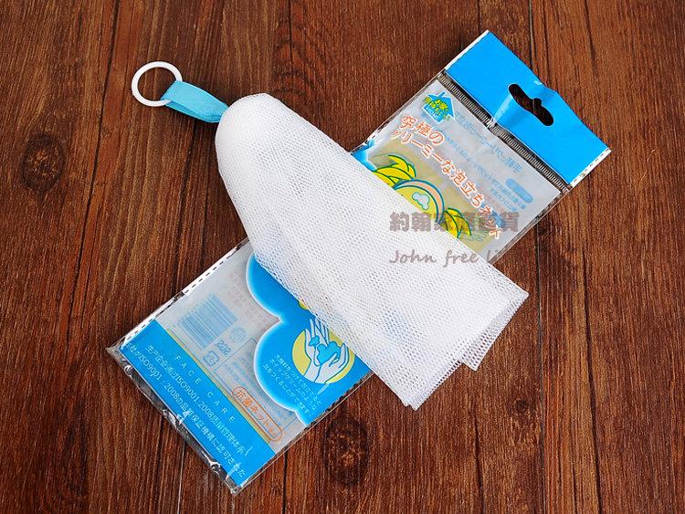 約翰家庭百貨BD340可掛式手工皂起泡網打泡網潔面網香皂沐浴乳起泡袋沐浴球顏色隨機出貨