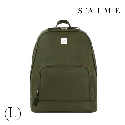 S aime東京企劃【SBG28-A012L】Gill吉兒 方塊中性多功能後背包(L) 肩背 手提 多用 深綠