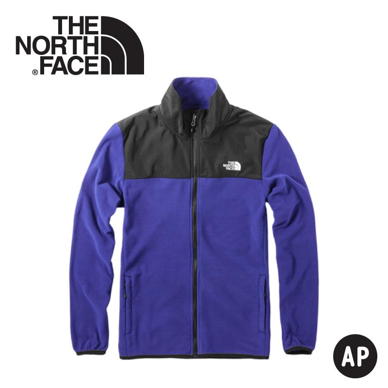 【The North Face 美國 男 刷毛保暖外套《國旗藍》】3VTA/抓絨外套/夾克/立領外套/保暖外套/中層
