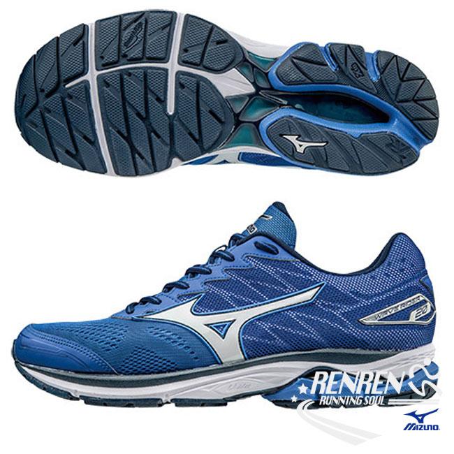美津濃 MIZUNO 男慢跑鞋 (藍) 第20代 WAVE RIDER 20 新雲波浪片男慢跑鞋【 胖媛的店 】