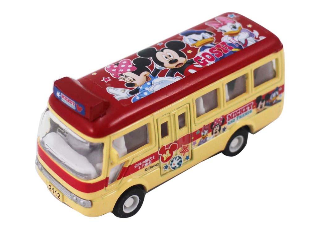 【卡漫城】 Mickey 米奇 迴力車 ㊣版 米老鼠 米妮 唐老鴨  巴士模型車 交通車 校車 公車 迪士尼