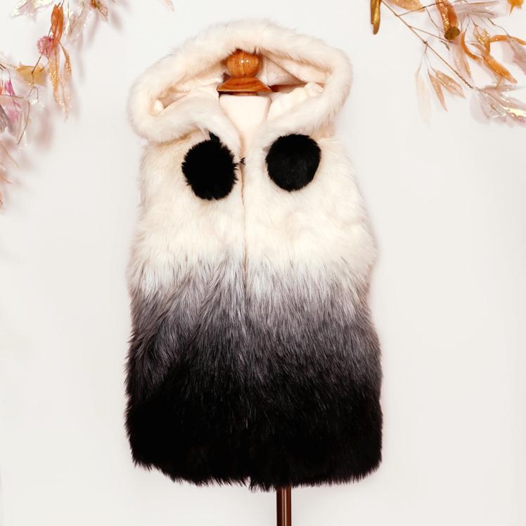 美國MAELI ROSE華麗刷毛質感仿皮草連帽背心毛毛馬甲背心9A06 OMBER VEST