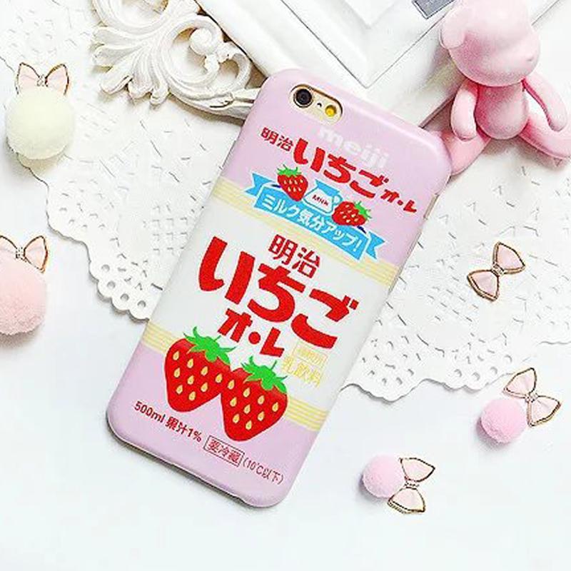 SZ iphone 6s手機殼iphone 6 plus手機殼小清新能粉色日系草莓磨砂軟殼iphone 6 iphone 6s