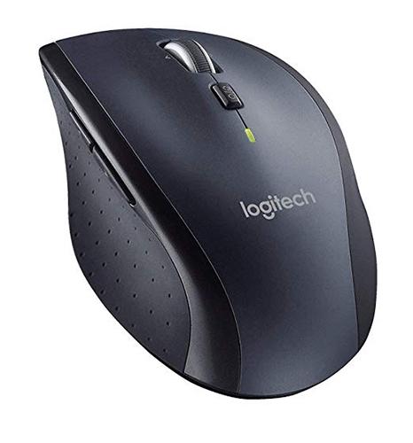 【美國代購-現貨】Logitech羅技雷射無線滑鼠 M705 超省電 拇指按鈕 飛梭滾輪-Unifying