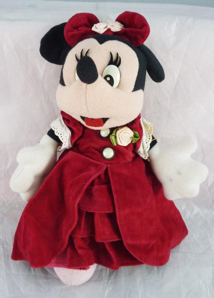 震撼精品百貨Micky Mouse米奇米妮~娃娃-米妮紅洋裝共1款