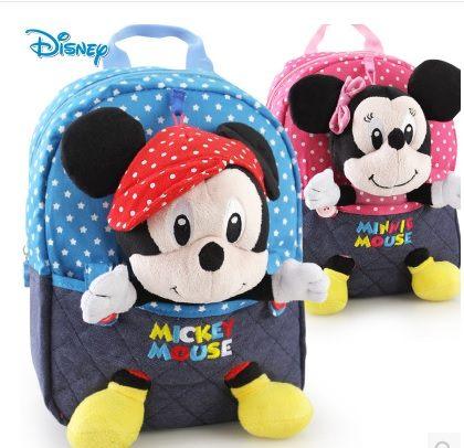 兒童書包幼兒園小中班正品迪士尼米奇雙肩背包可愛玩偶寶寶書包