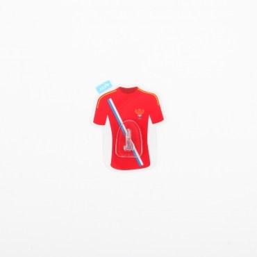 HOMMY黏貼式掛勾-紅色足球衣單入