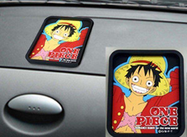 車之嚴選cars go汽車用品CE120日本ONE PIECE航海王海賊王魯夫附框橡膠置物盤收納盒