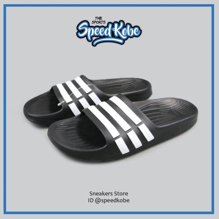 ADIDAS拖鞋Duramo K黑白防水海灘鞋運動休閒G06799 Speedkobe