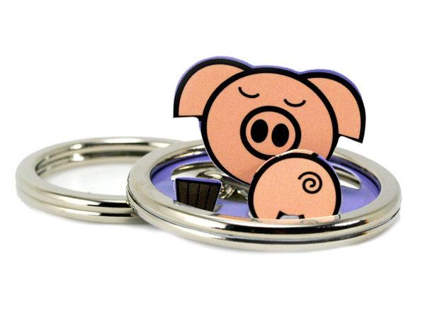 ☆猴子設計☆小豬立體鑰匙圈