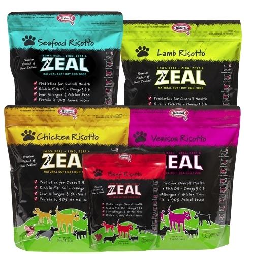 培菓平價寵物網紐西蘭ZEAL全犬牛雞鹿肉鱒魚羊肉寵物犬糧453g