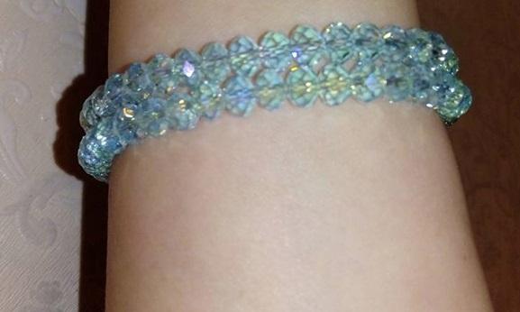 水晶手環Sabrina C.  ( 水藍, 天空藍, 粉紅, 銀白)