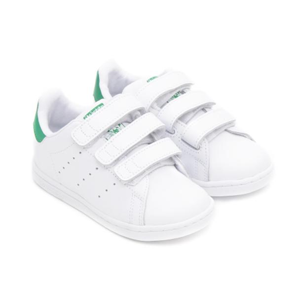 adidas休閒鞋Stan Smith Kids Infants白綠魔鬼氈童鞋GT Company M20609