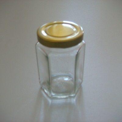 金蓋瓶六角柱型-175ml儲物罐玻璃瓶密封罐收納罐糖果罐保鮮罐