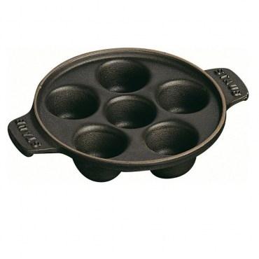 Staub蝸牛烤盤鑄鐵烤盤點心盤焗烤盤14cm 1L黑色法國製