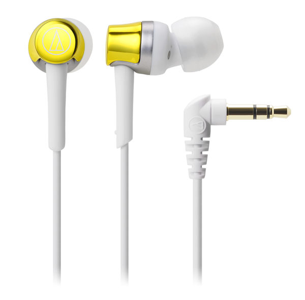 台中平價鋪全新鐵三角audio technica ATH-CKR30耳道式耳機公司貨黃色
