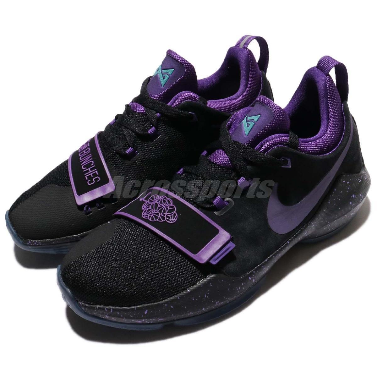 Nike籃球鞋PG 1 GS黑紫葡萄Grape女鞋大童鞋PUMP306 880304-097