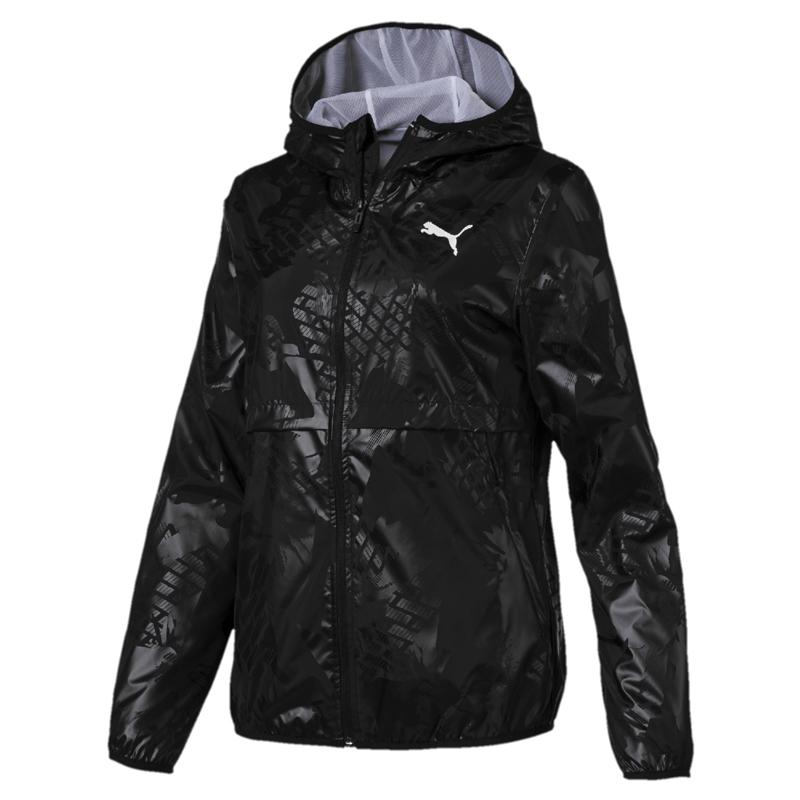 Puma Morden 女 黑 連帽外套 風衣外套 防風 運動外套 訓練 慢跑 瑜珈 外套 84410601