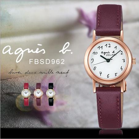 法國簡約雅痞agnes b.時尚女錶24mm設計師款GO防水太陽能FBSD962現貨排單熱賣中