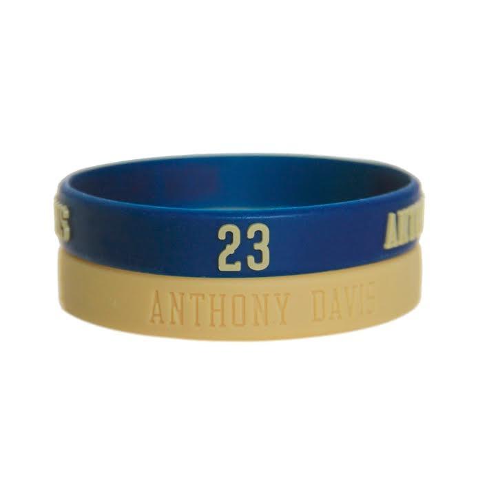 NBA官方授權紐澳良鵜鶘安東尼戴維斯Anthony Davis一字眉運動矽膠手環籃球運動手環1組兩條
