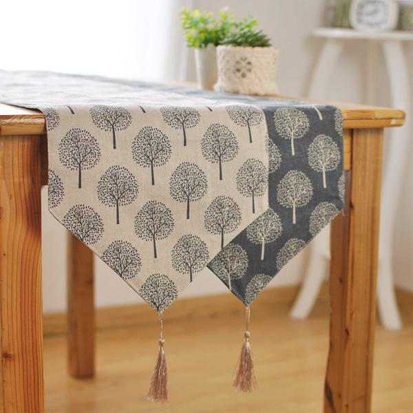 時尚可愛空間餐桌布 茶几布 隔熱墊 鍋墊 杯墊 餐桌巾桌旗101 (30*140cm)