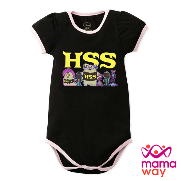 mamaway媽媽餵迪士尼怪獸電力公司包屁衣短袖包屁衣寶寶服
