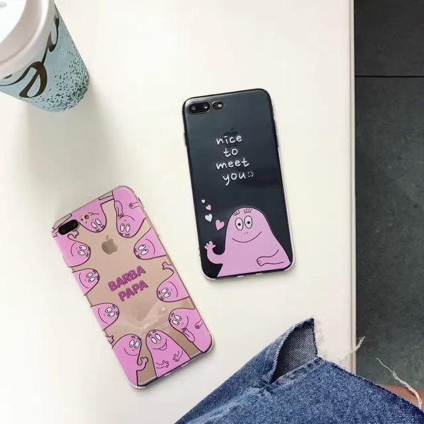 iPhone手機殼可掛繩韓國泡泡先生浮雕矽膠軟殼蘋果iPhone7 iPhone6