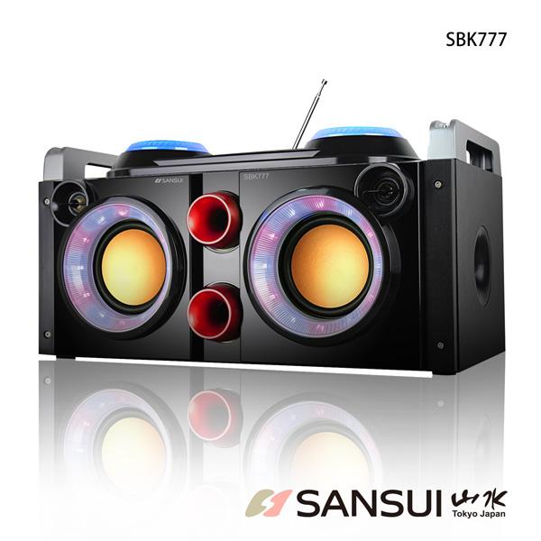 贈送藍芽耳機一入SANSUI山水行動KTV音霸藍牙隨行卡啦OK播放器SBK777