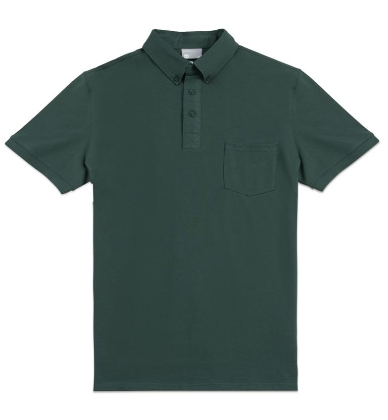 限宅配HYPER HEROES男版短袖口袋款POLO衫-綠CL1SSM402購潮8