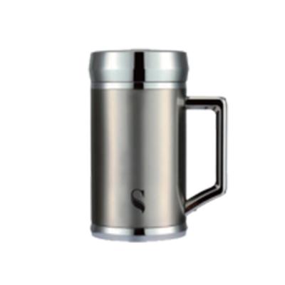 等一個人咖啡真空雙層內陶瓷保溫杯400ml-銀色