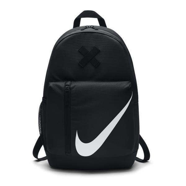 Nike後背包Elemental Kids Backpack黑白大勾勾叉叉輕便旅行包包基本款附筆袋PUMP306 BA5405-010