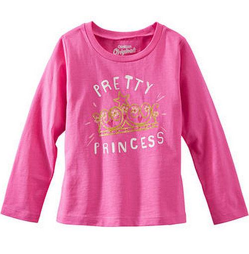 Carter's/OshKosh B'gosh 美國童裝 公主皇冠 純棉T恤 長袖 粉紅色 12M 24M