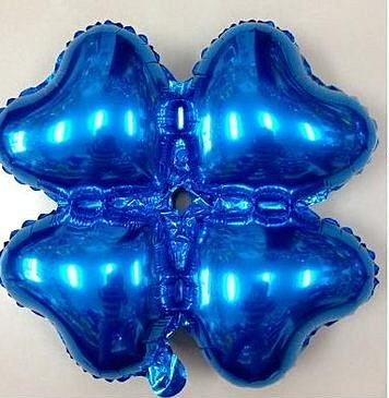 小四輪(愛心)造型鋁箔氣球-藍色(未充氣)~~求婚道具/婚禮 生日 耶誕節 尾牙佈置