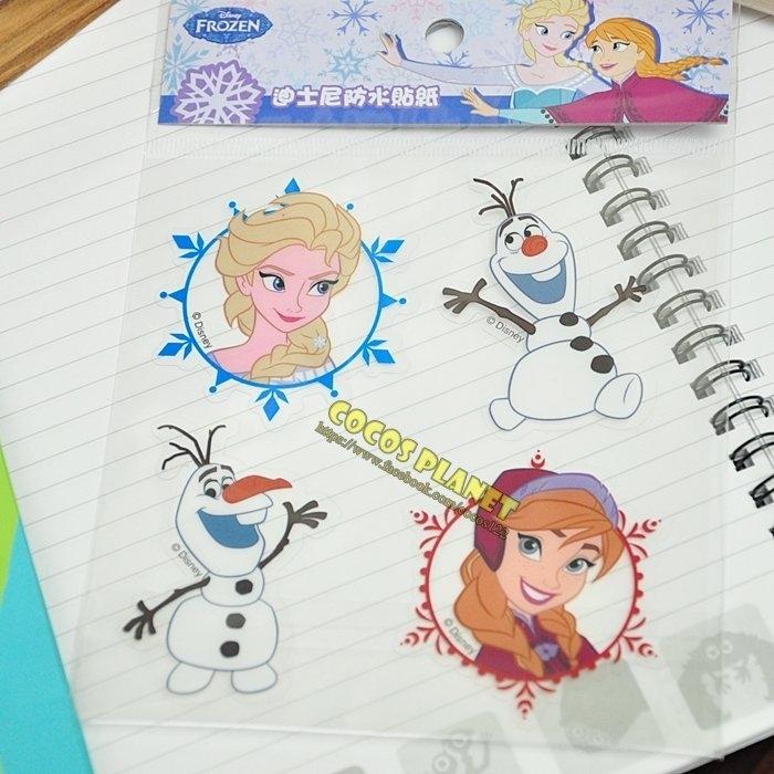 迪士尼貼紙冰雪奇緣雪寶艾莎安娜透明貼紙壁貼防水貼安全帽機車貼行李箱貼紙COCOS TM030