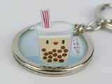 ☆猴子設計☆ 2281 珍珠奶茶-立體鑰匙圈