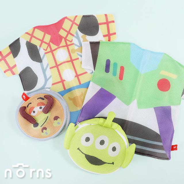 【日貨玩具總動員洗衣網M號】Norns 胡迪 三眼怪 彈簧狗 雙層網布 立體洗衣袋