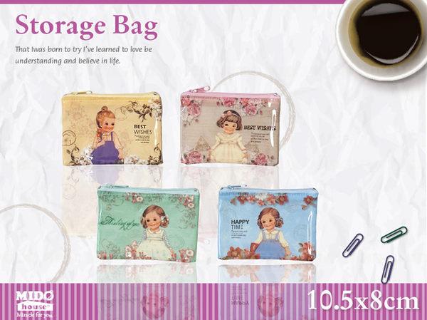 韓國文具洋娃娃迷你網格袋旅行收納小物收納袋4款Midohouse