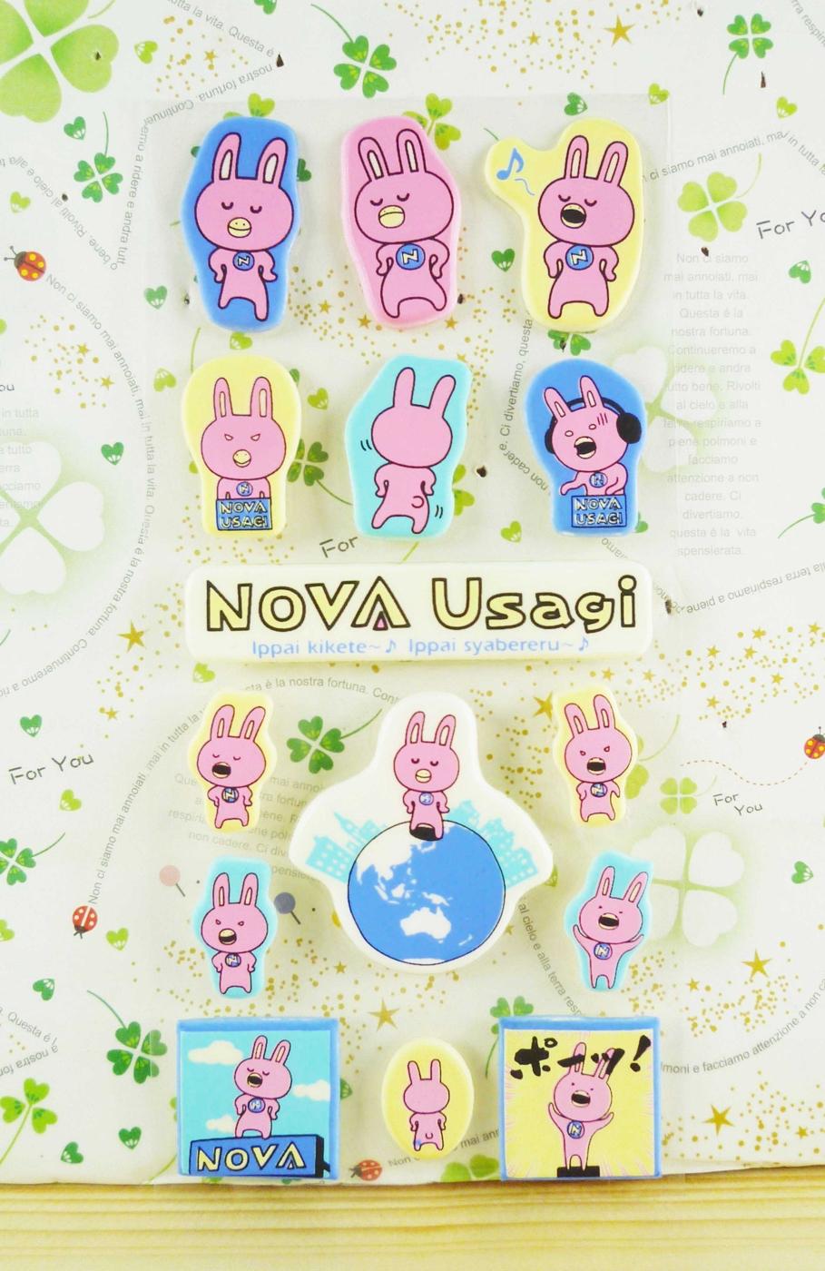 【震撼精品百貨】粉兔_NOVA Usagi~造型立體貼紙-唱歌