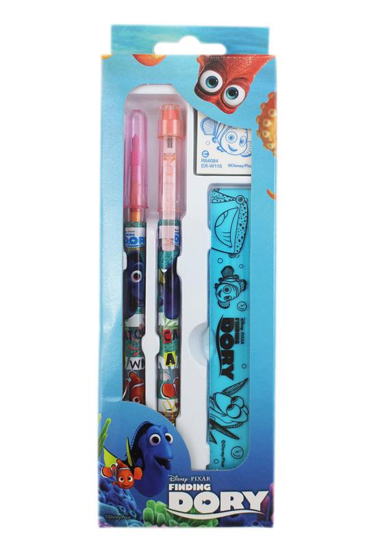 卡漫城海底總動員4件文具組版免削鉛筆尺橡皮擦彩虹筆尼莫Nemo多莉Finding Dory