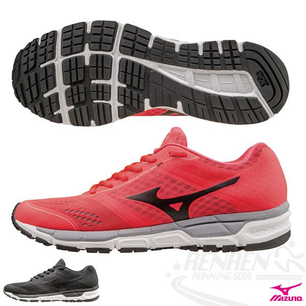 MIZUNO 美津濃  MIZUNO SYNCHRO MX(W) 女慢跑鞋 (桃紅*黑) 翁滋蔓代言款