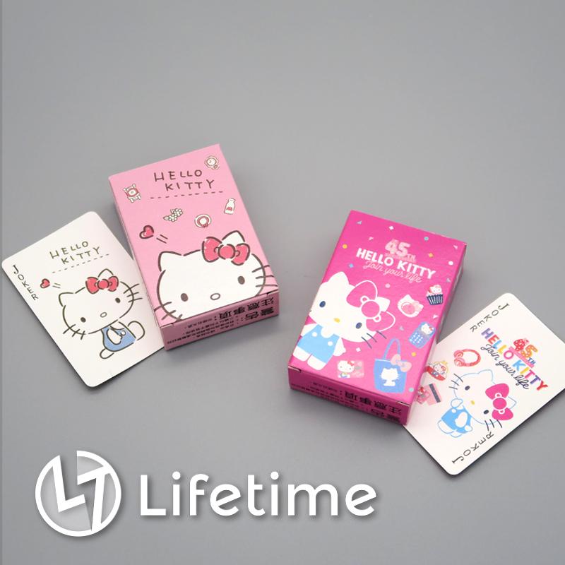 ﹝Kitty45週年迷你撲克牌﹞正版撲克牌 桌遊 派對 遊戲 凱蒂貓 三麗鷗〖LifeTime一生流行館〗