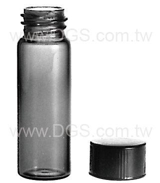 美製茶色螺蓋樣本瓶黑蓋橡膠墊片Vial Sample Screw Thread Amber Rubber Lined Closure