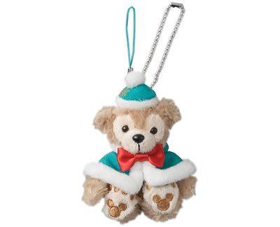尼德斯Nydus*日本東京迪士尼海洋限定達菲熊Duffy聖誕節限定吊飾坐姿-約10cm