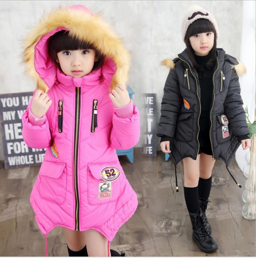 衣童趣 ♥韓版 中大女童 時尚長版 大外套 拉鍊口袋 連帽 秋冬保暖外套 熱賣款大衣外套