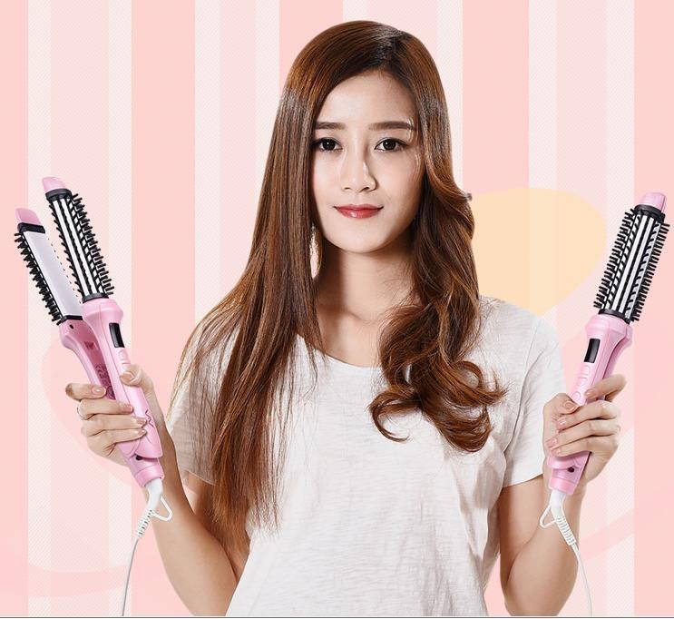 卷髪棒兩用大卷電卷棒不傷髪內扣直髪器韓國直卷梳子神器學生夾板