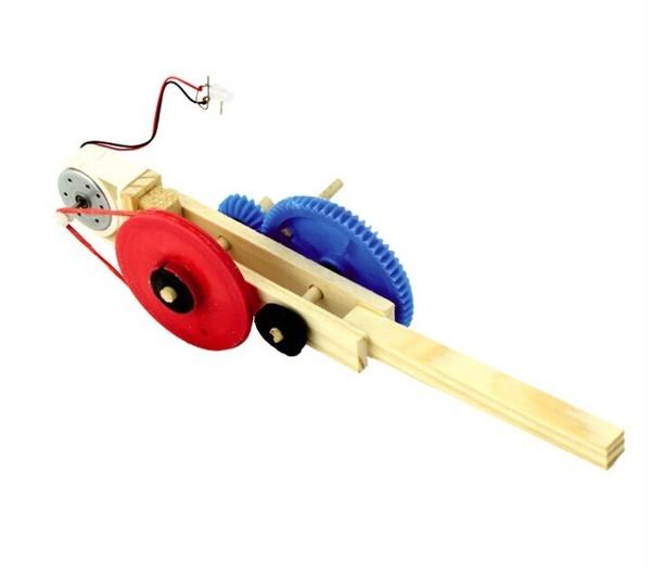 DIY科技小制作發明實驗手搖發電機木制手工科普教具模型材料手搖發電機膠水預購CH655