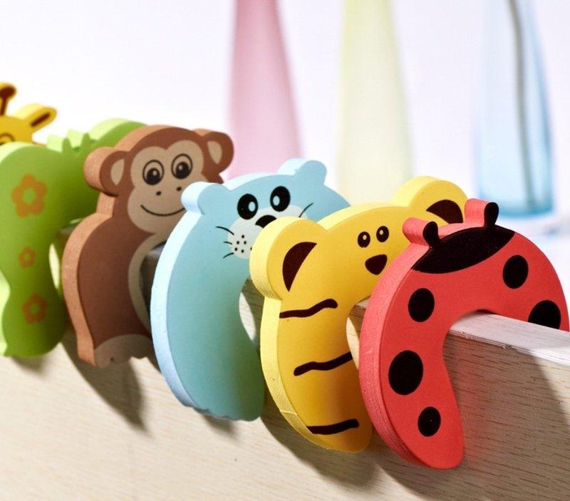 【U形門擋】幼兒童安全~可愛動物造型安全門卡 門檔 門夾 U型門塞